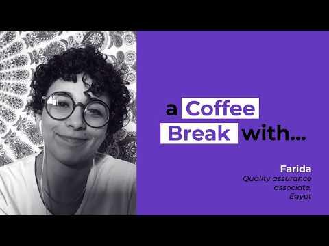 A coffee break with Farida