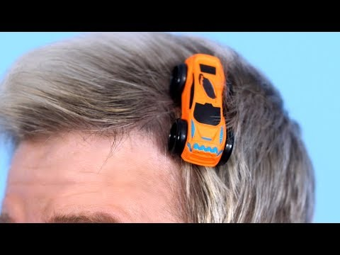 TOY TRUCK TANGLED IN HAIR!