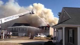 House on fire in Lexington sc