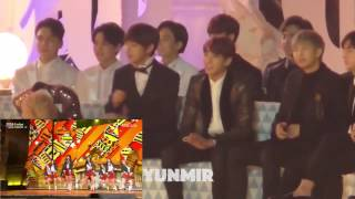 161119 bts seventeen reaction to ioi s performance melon music award mma 2016 hd fancam