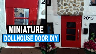 How To Make A Dollhouse Door Doll Crafts
