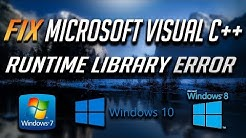 "Fix ""Microsoft Visual C++ Runtime Library"" Error in Windows 10/8/7 - [2020 Solution]"