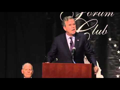 Jeb Bush Forum Club Full Speech Florida: Jeb Does a Weird Extended Riff on Selfies
