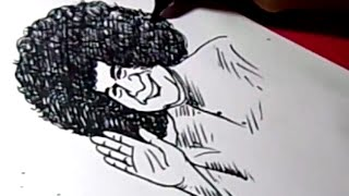 How to Draw BHAGAVAN SAIBABA DRAWING for kids
