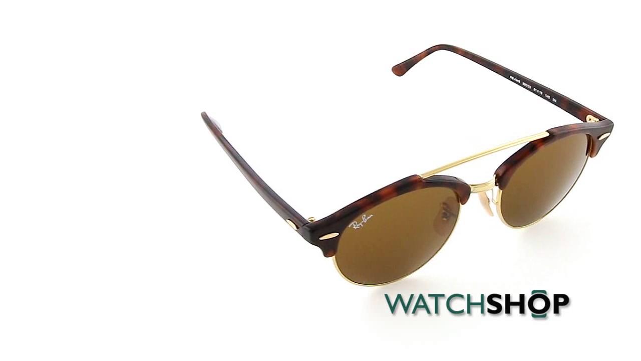 375b829087f867 Ray-Ban Men s Clubround Double Bridge Sunglasses (RB4346-990 33-51 ...