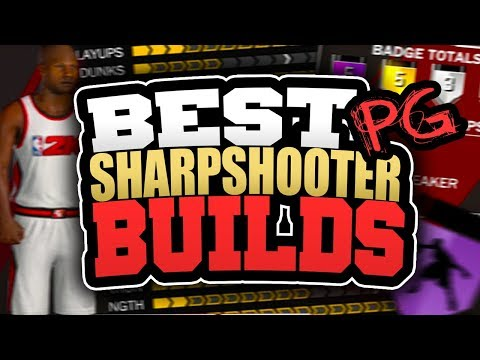 BEST SHARPSHOOTER POINT GUARD BUILDS in NBA 2K18! HOW TO CREATE MOST OVERPOWERED PG BUILD IN 2K18!