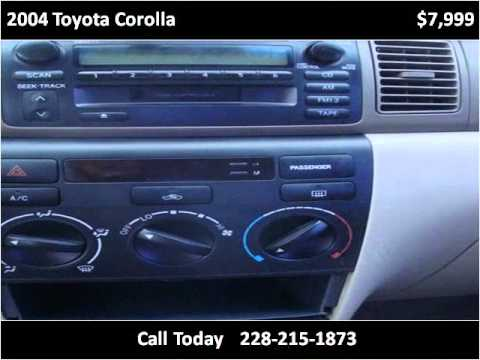 2004 Toyota Corolla Used Cars Ocean Springs MS
