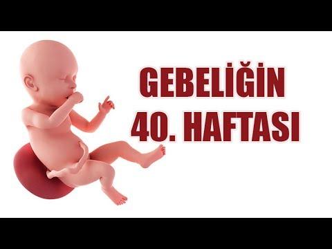 Gebeliğin 40. haftasıneda anne ve bebekteki...