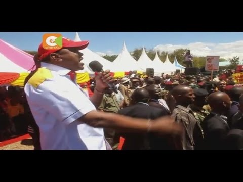 President Kenyatta's rally in Isiolo disrupted
