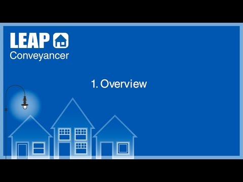 LEAP Conveyancer Training - Overview