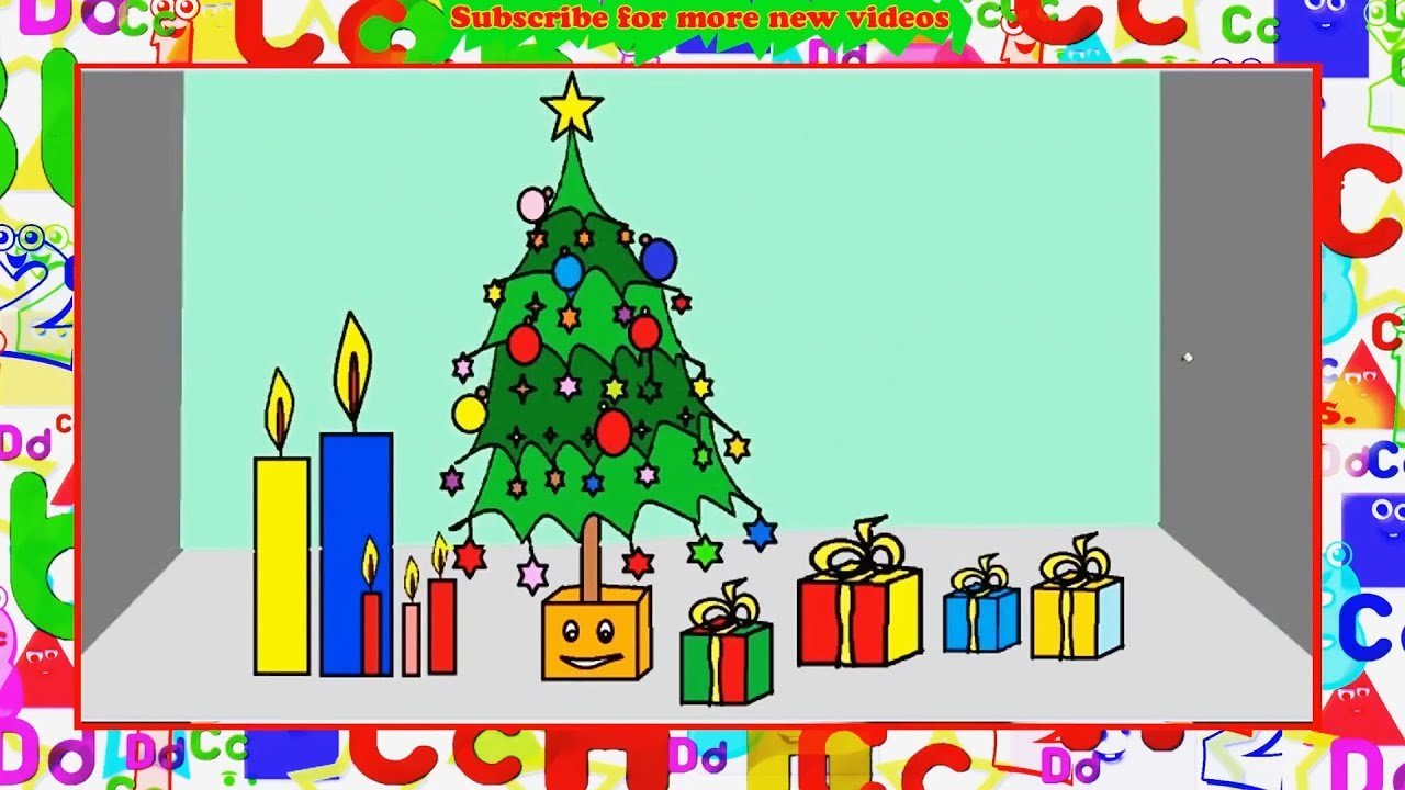 How To Draw Christmas Tree In Ms Paint Christmas Stuff Things Top Drawing Videos Learn By Art Youtube Christmas Tree Drawing Painting Drawing Videos