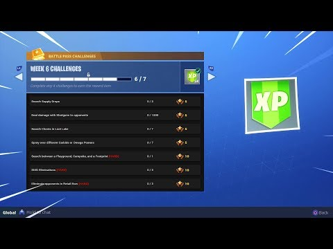 ALL Week 6 Challenges In Fortnite..