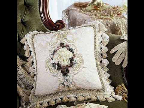 Декоративные подушки на диван вязаные фото