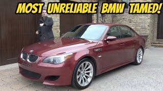 homepage tile video photo for My Cheap BMW M5 Is FINALLY FINISHED (Thanks to a Wire Hanger???)