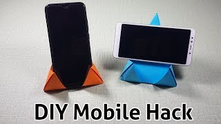 DIY -How To Make Paper Mobile Stand Without Glue | Origami Phone Stand/Holder