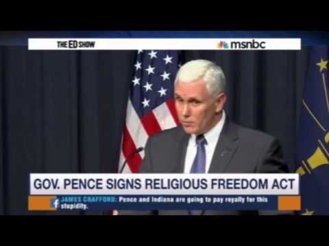 Law Prof on MSNBC: Indiana Religious Freedom Act Drafted to Legalize Discrimination