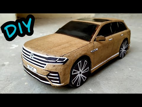 How to make a  RC Car | Volkswagen Touareg 2019 | Diy Cardboard RC Toy