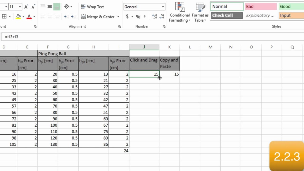 Excel Word Assignment