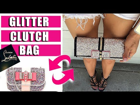 Christian Louboutin REPLICA- How to make a glitter bow clutch