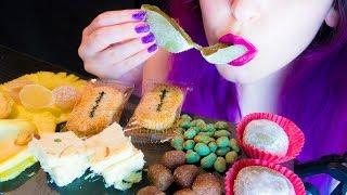 ASMR: Japanese Mochi & Chinese Hot Edamame & Indian SoanPapdi ~ Relaxing Eating[No Talking | Vegan]😻