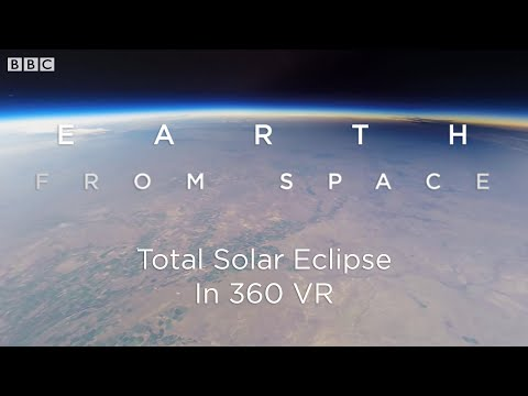 Total Solar Eclipse: 360 VR Video Seen From Space | Earth From Space | BBC Earth