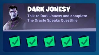 Fortnite Complete 'Dark Jonesy' ChaĮlenges Guide - How to Complete the The Oracle Speaks Questline