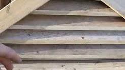 Gable roof end vent construction pt1