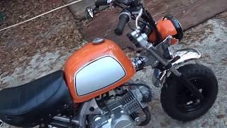 HD 125cc loud monkey bike straight pipe