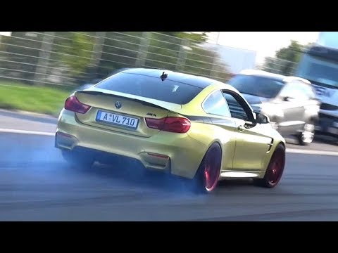 Modified Cars Leaving a Car Show - Launches, Burnouts & LOUD Accelerations!