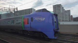 特急カムイ32号 札幌到着 車窓 鉄道唱歌のチャイム