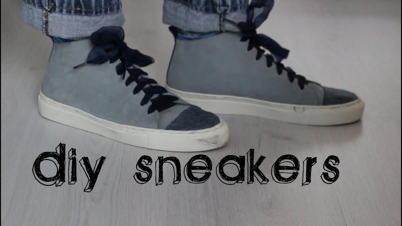 DIY sneakers or easy shoemaking ! - YouTube
