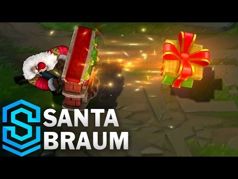 Santa Braum Skin Spotlight - League of Legends