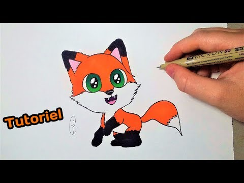 Dessiner un renard kawaii tutoriel facile youtube - Dessin tete de renard ...
