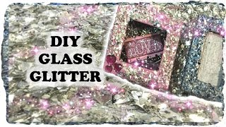 How to DIY Make German Glass Glitter with Recycled Christmas Ornaments