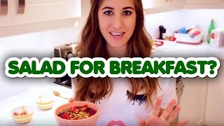 salad for breakfast tasty healthy smoothie bowl recipe melissa maker