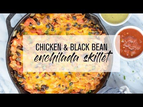 Chicken & Black Bean Enchilada Skillet