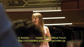HD / HQ video of Connie Talbot singing One Moment In Time