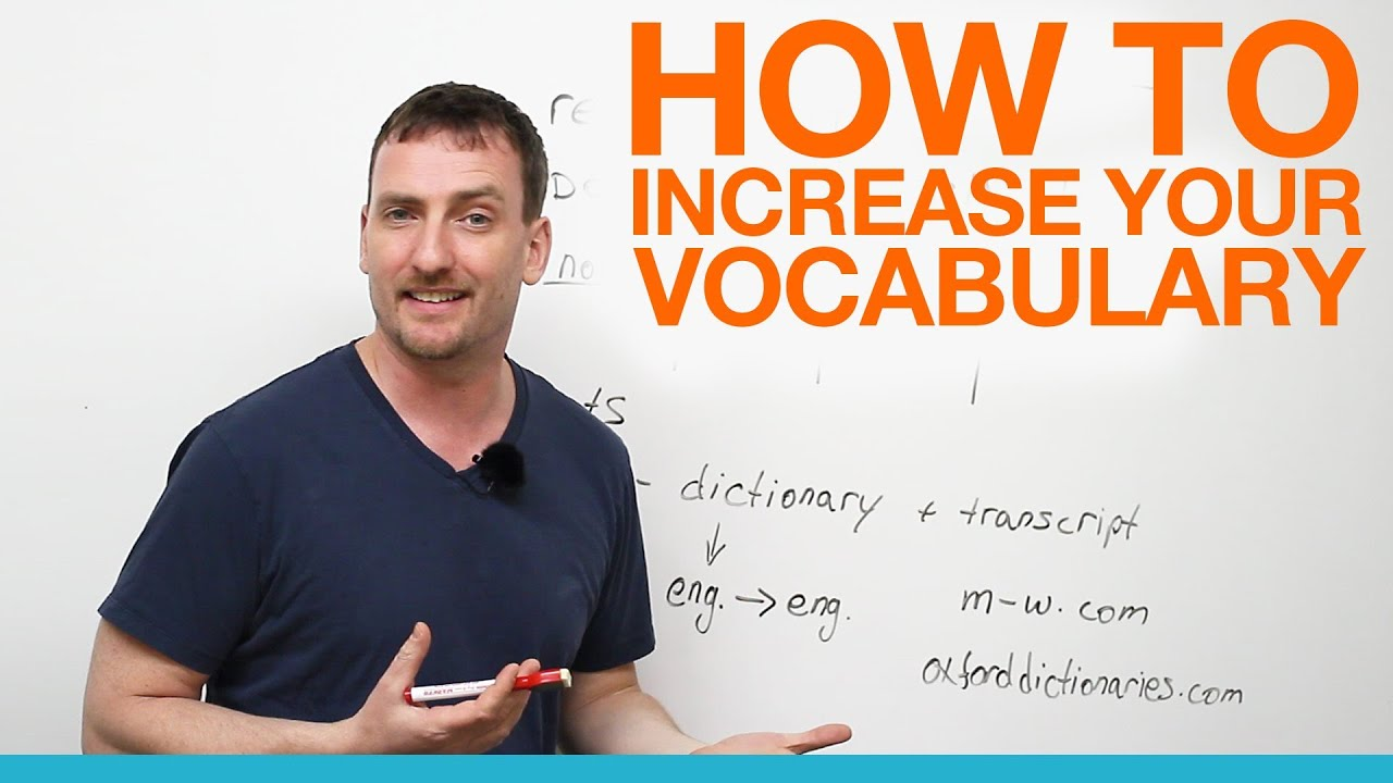 How To Increase Your Vocabulary  Youtube