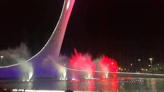 Шоу поющих фонтанов в Олимпийском парке Сочи