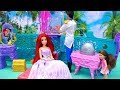 Melody's Mermaid Friend ! Toys and Dolls Fun Pretend Play for Kids with The Little Mermaid | SWTAD