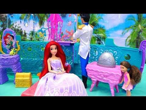 Melody's Mermaid Friend ! Toys and Dolls Fun Play for Children with The Little Mermaid | SWTAD Kids