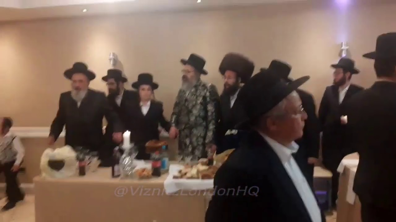 Viznitz London Rebbe At A Bar Mitzvah - Elul 5780