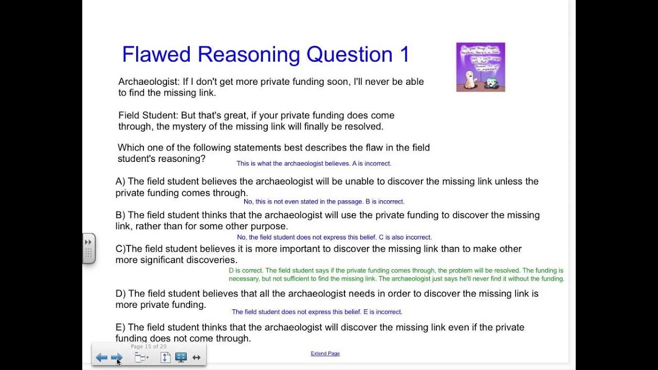 Logical reasoning flawed reasoning lsat youtube logical reasoning flawed reasoning lsat malvernweather Choice Image