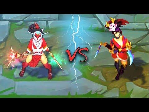 AKALI ALL SKINS Old VS New Comparison Rework - League of Legends