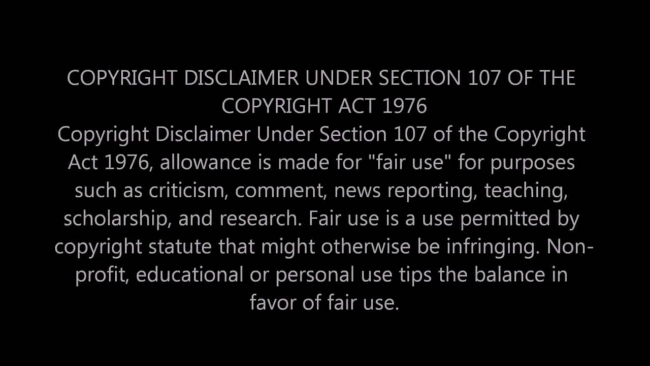 Copyright Disclaimer YouTube – Copyright Notice Template