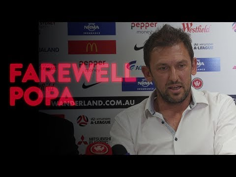 Tony Popovic farewell Press Conference