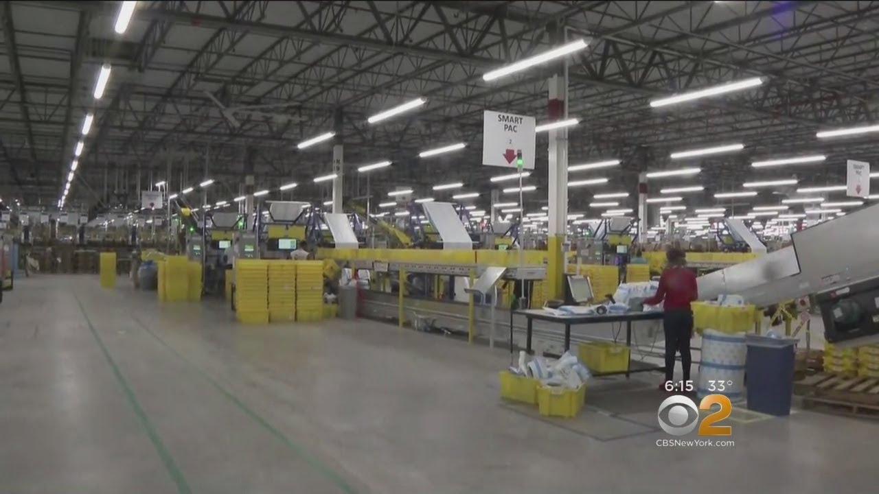 Behind The Scenes At New Amazon Fulfillment Center On Staten