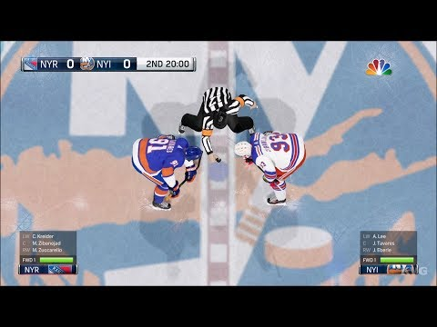 NHL 18 - New York Islanders vs New York Rangers - Gameplay (HD) [1080p60FPS]