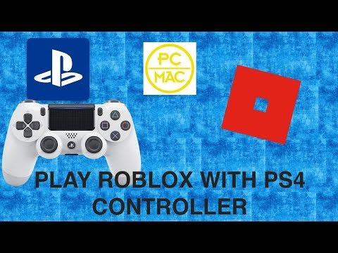 How To Play Roblox With Ps4 Controller Pc Mac Youtube