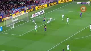 Barcellona vs betis gol messi